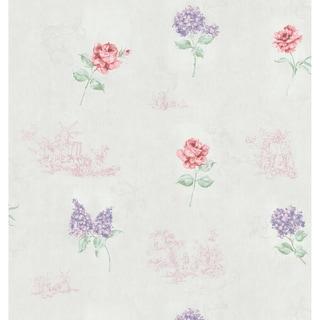 Brewster Off-White Vintage Toile Wallpaper