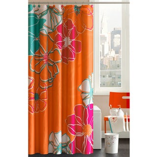 Madison Park Valencia Cotton Shower Curtain with Hooks