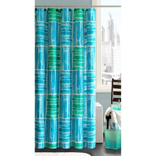 Madison Park Seaglass Cotton Shower Curtain with Hooks