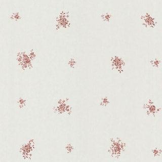 Brewster Burgundy Botanical Toile Wallpaper