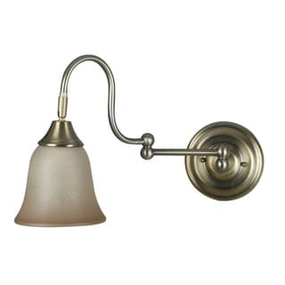 Jerome 1-light Vintage Brass Swing-arm Wall Sconce