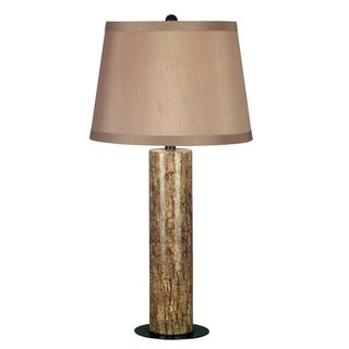 Sofia 15-inch Long With Marble Finish And Copper Bronze Accents Table Lamp