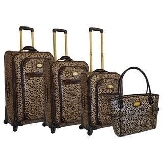 Adrienne Vittadini 4-piece Fashion Spinner Luggage set