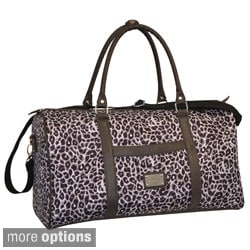 Adrienne Vittadini 22-inch Leopard Carry-on Duffel Bag