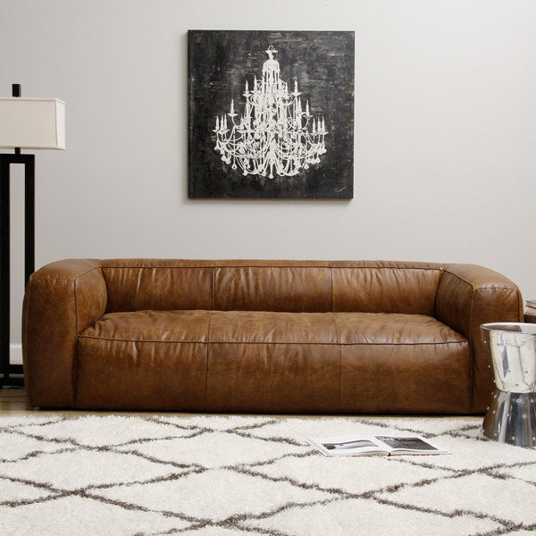 Diva Outback Bridle Leather Sofa Overstock Shopping Great Deals On Sofas Loveseats