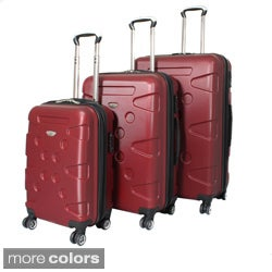 American Travel 3-piece Lightweight Hardside Spinner Upright Luggage Set with TSA Lock