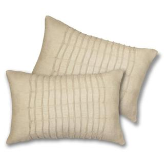 Lush Decor Lake Como Oblong Taupe Decorative Pillows (Set of 2)