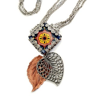 Sweet Romance Two-tone Leaves of Mazatlan Necklace
