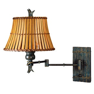 Ouray 1-light Bronze Heritage Swing-arm Wall Sconce