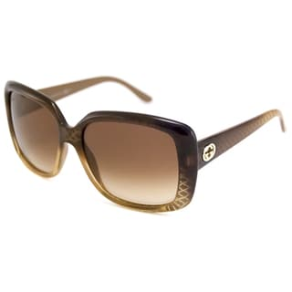 Gucci Women's GG3574 Rectangular Sunglasses