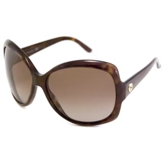 Gucci Women's GG3581 Polarized/ Rectangular Sunglasses