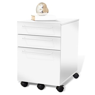 Tribeca White Mobile Filing Cabinet