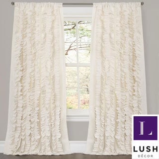 Lush Decor Belle Ivory 84-inch Curtain Panel