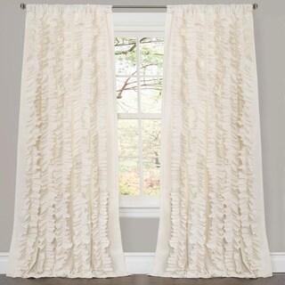 Lush Decor Belle Ivory 84-inch Curtain Panel