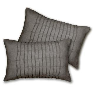 Lush Decor Lake Como Oblong Grey Decorative Pillows (Set of 2)