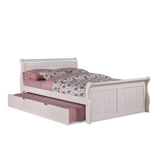 Donco Kids White Sleigh Bed with Trundle