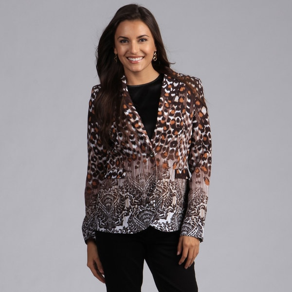 Milano Graduated Animal Print Blazer