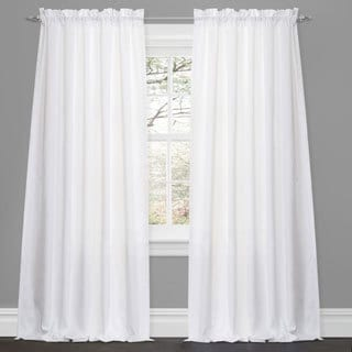 Lush Decor Lucia White 84-inch Curtain Panel Pair