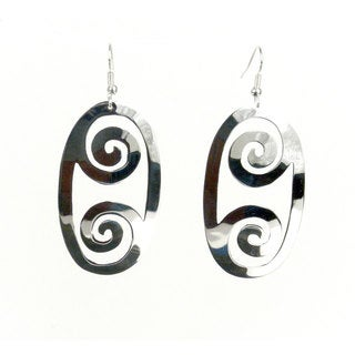 Handcrafted Silverplated Large Double Scroll Earrings (Mexico)