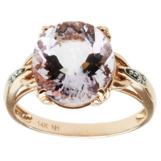 Michael Valitutti 14k Rose Gold Rose de France and Diamond Ring