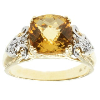 Michael Valitutti 14k Two-tone Gold Heiodor and Diamond Ring