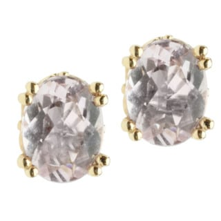 Michael Valitutti 14k Yellow Gold Kunzite Stud Earrings