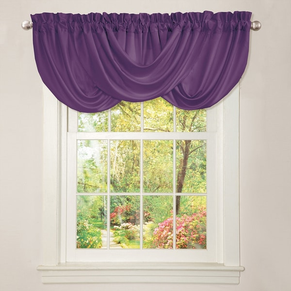 Lush Decor Lucia Purple Valance