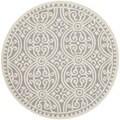 Safavieh Handmade Moroccan Cambridge Silver Wool Rug (4' Round)