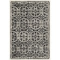 Safavieh Handmade Oriental Moroccan Cambridge Black Wool Rug (3' x 5')