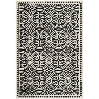 Safavieh Handmade Oriental Moroccan Cambridge Black Wool Rug (3' x 5')