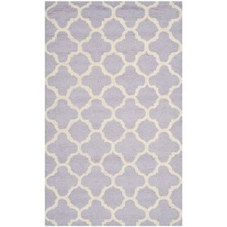 Safavieh Handmade Cambridge Moroccan Lavander Wool Rug with Cotton Canvas Backing (3' x 5')