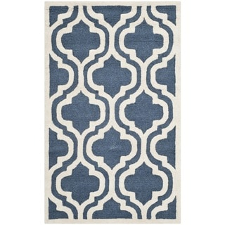 Safavieh Handmade Cambridge Moroccan Navy Area Wool Rug