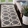 "Contemporary Handmade Moroccan Dark Gray Wool Rug (2'3"" x 9')"