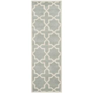Safavieh Rectangular Handmade Moroccan Grey Wool Rug (2'3 x 7')