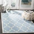 Safavieh Handmade Moroccan Blue Wool Geometric Rug (7' Square)