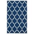 Safavieh Modern Handmade Moroccan Dark Blue Wool Rug (3' x 5')