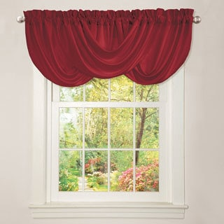Lush Decor Lucia Red Valance