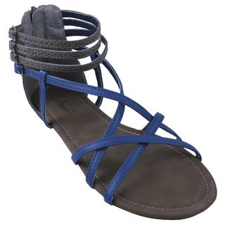 Anna by Beston Women's 'LYNK-10' Gladiator Sandals