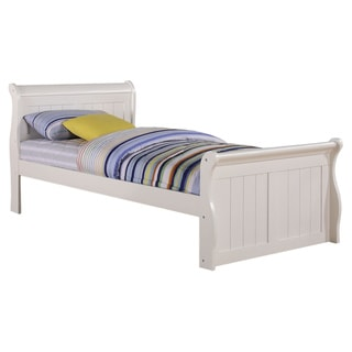 White Sleigh Bed with Slat-Kit