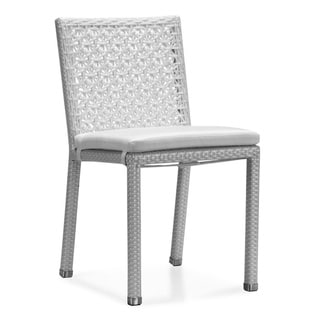 Belize Armless Outdoor Dining Chairs (Set of 2)