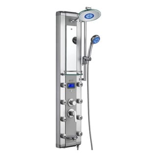 Blue Ocean 52-inch Aluminum Shower Panel Tower LED Rainfall Shower Head