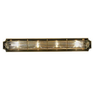 Contemporary Plated Brass 4-light Bathroom Vanity Fixture