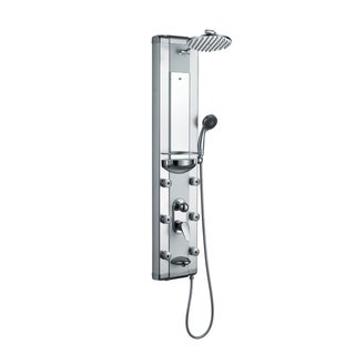 Blue Ocean Aluminum Shower Panel Tower with Rainfall Shower Head, Mist Nozzles, Handheld Shower Head and Tub Spout