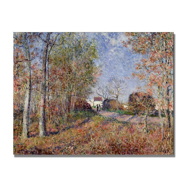 Alfred Sisley 'A Corner of the Woods at Sablons' Canvas Art