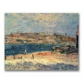 Alfred Sisley 'River Banks at Saint-Mammes' Canvas Art