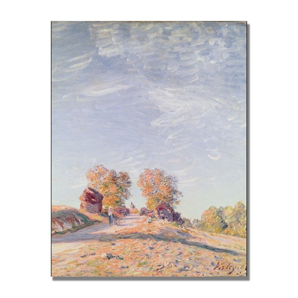 Alfred Sisley 'Uphill Road in Sunshine' Canvas Art