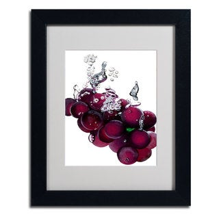 Roderick Stevens 'Grape Splash II' Framed Matted Art