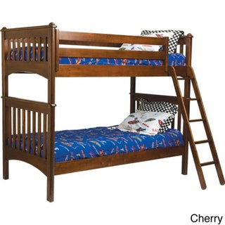 Mission Twin Bunk Bed with Ladder and Safety Rails