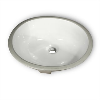Ceramic Double Glazed Exposed Undermount Bathroom Sink