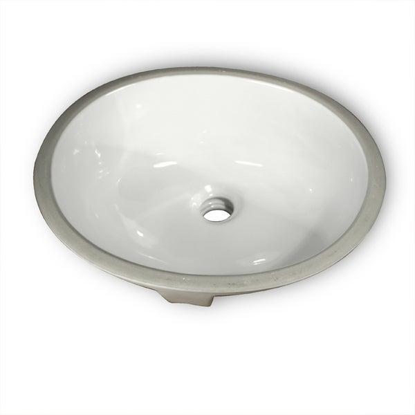 Highpoint Collection Ceramic Double Glazed Exposed Undermount Bathroom Sink (As Is Item)